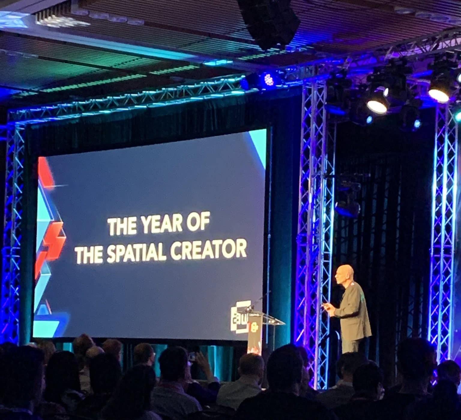 el año del spatial creator awe 2019