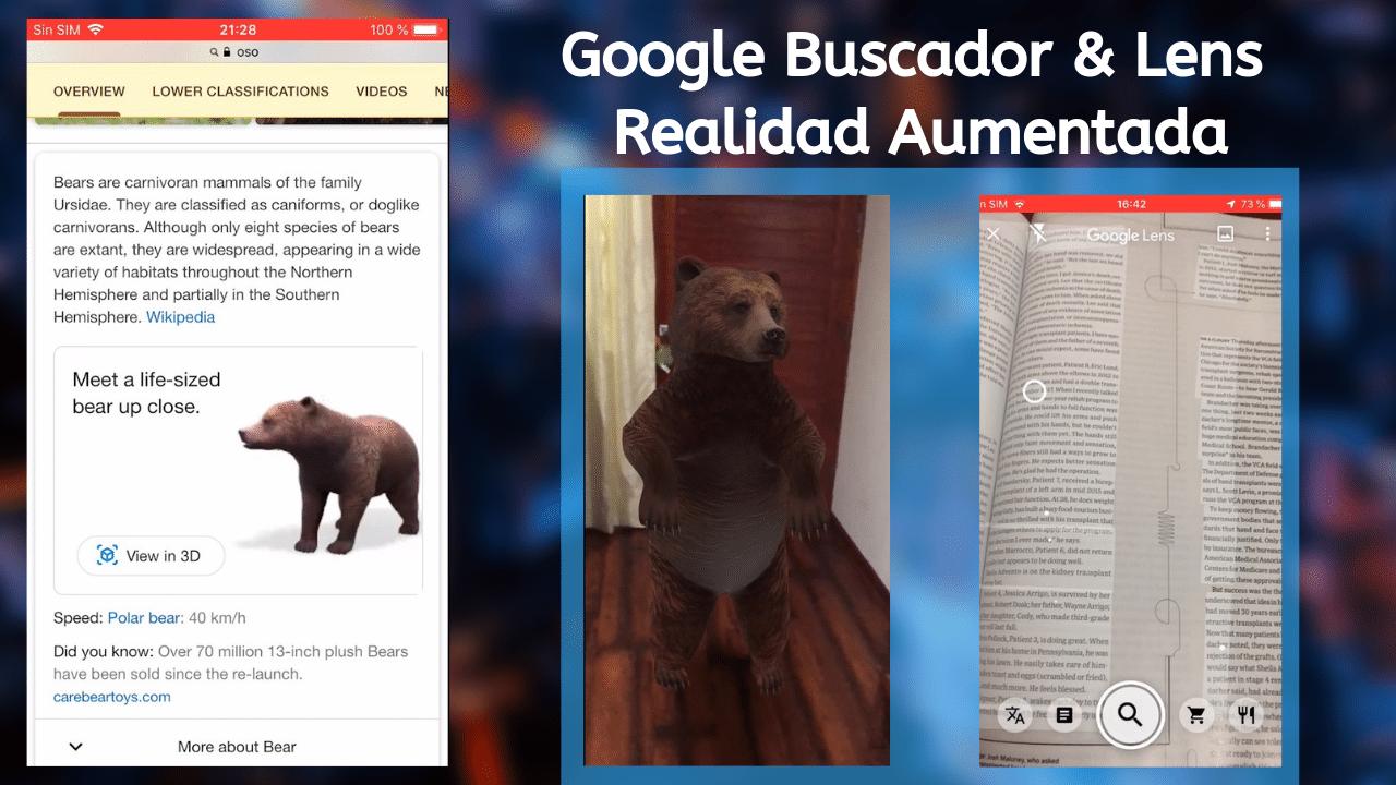 google buscador google lens realidad aumentada