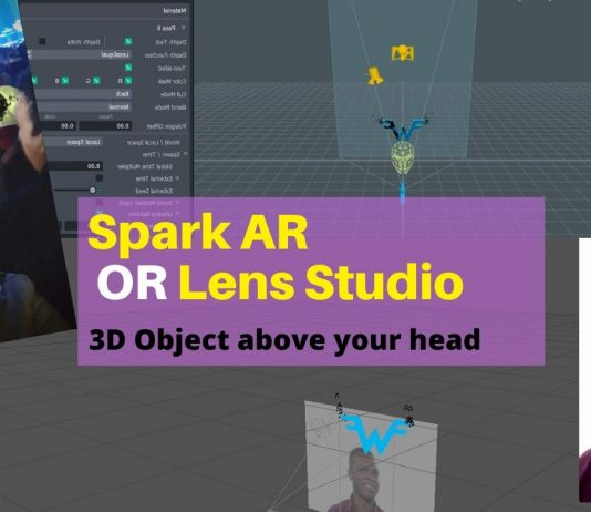 3d object spark AR lens studio