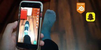 foot tracking snapchat lens studio