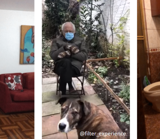 Sitting Bernie Filtros Instagram