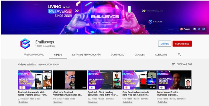 youtube realidad aumentada